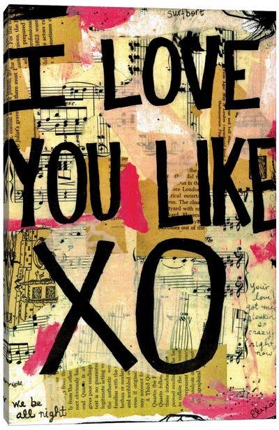 Love You Like XO Beyonce Canvas Art Print