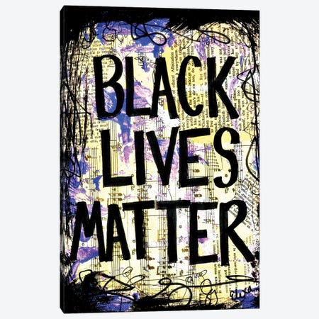 Black Lives Matter Canvas Print #EXB88} by Elexa Bancroft Art Print