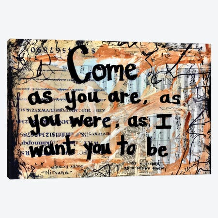 Come As You Are By Nirvana Canvas Print #EXB8} by Elexa Bancroft Canvas Art Print