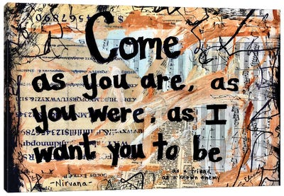 Come As You Are By Nirvana Canvas Art Print