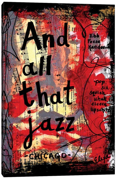 All That Jazz Chicago Canvas Art Print