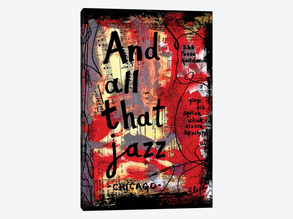 All That Jazz Chicago by Elexa Bancroft 1-piece Canvas Print