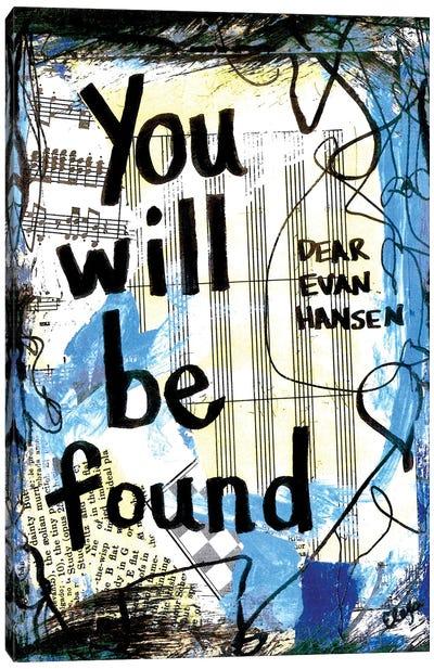 You Will Be Found Dear Evan Hansen Canvas Art Print