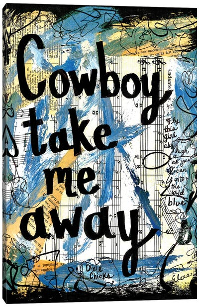 Cowboy Dixie Chicks Canvas Art Print
