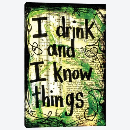 Drink Game Of Thrones Canvas Print #EXB95} by Elexa Bancroft Canvas Print