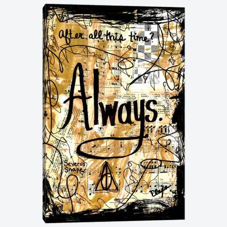 Always Harry Potter Canvas Print #EXB96} by Elexa Bancroft Art Print