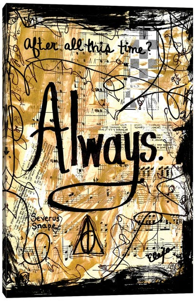 Always Harry Potter Canvas Art Print