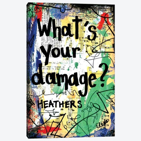 Damage Heathers Canvas Print #EXB97} by Elexa Bancroft Canvas Print
