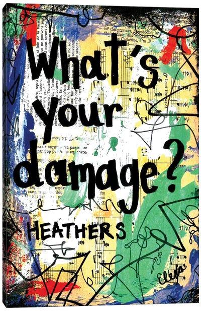 Damage Heathers Canvas Art Print