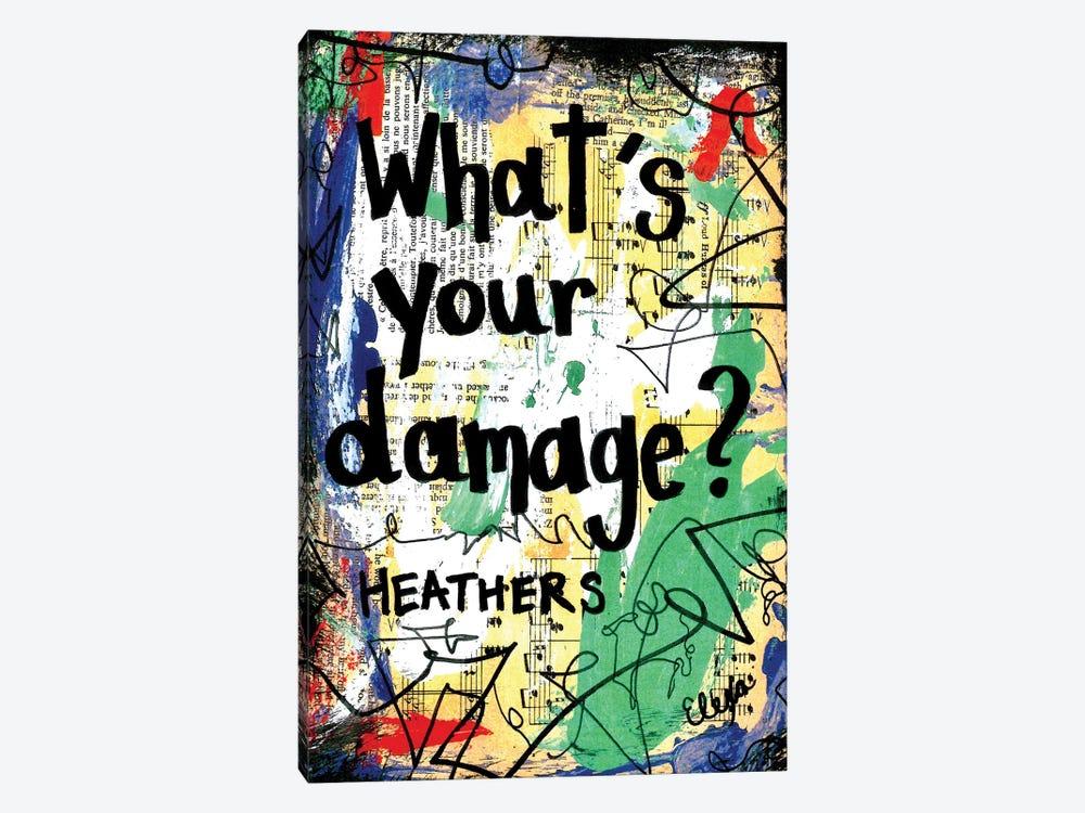 Damage Heathers by Elexa Bancroft 1-piece Canvas Artwork