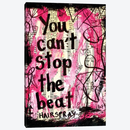 The Beat Hairspray Canvas Print #EXB99} by Elexa Bancroft Canvas Art
