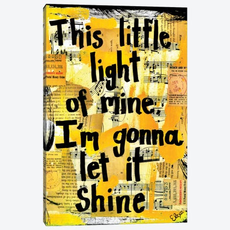 This Little Light Of Mine Canvas Print #EXB9} by Elexa Bancroft Canvas Art Print