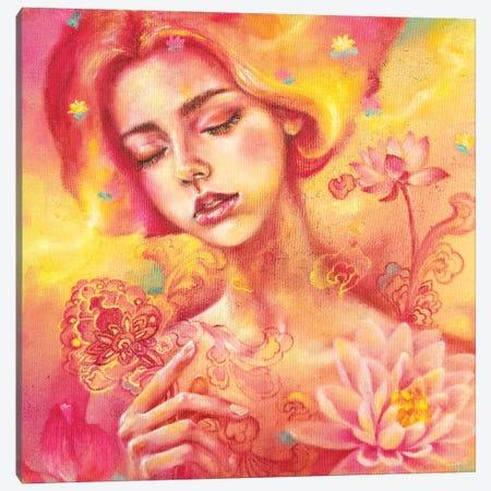 The Dreamer: Lotus Canvas Print #EYK12} by Eury Kim Canvas Art