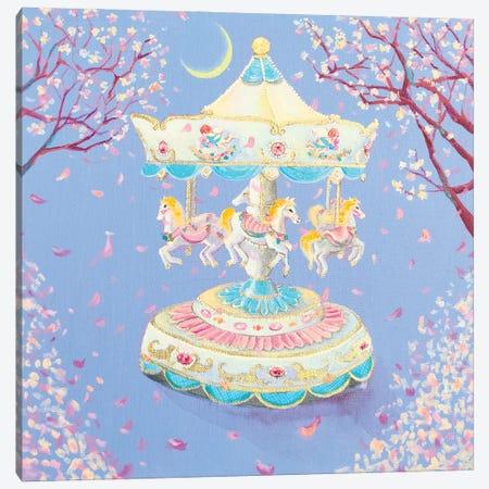 Cherryblossom Carousel Canvas Print #EYK13} by Eury Kim Canvas Art