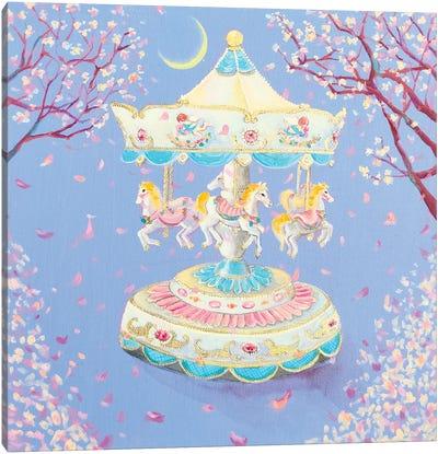Cherryblossom Carousel Canvas Art Print