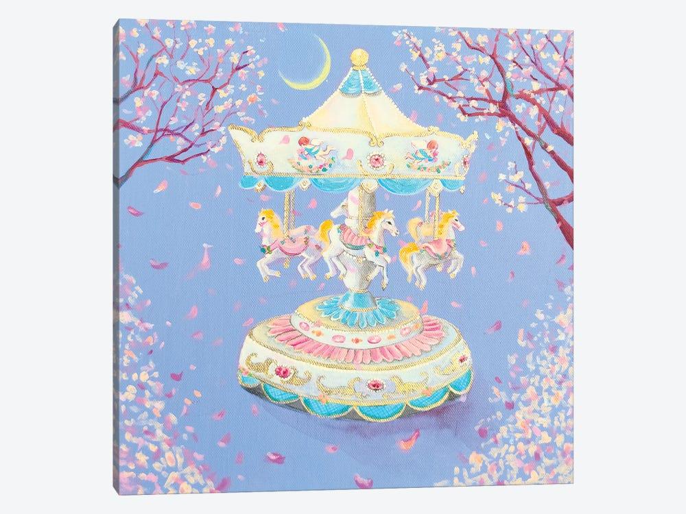 Cherryblossom Carousel by Eury Kim 1-piece Canvas Art