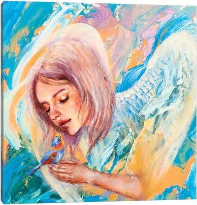 The Blue Bird Canvas Art Print