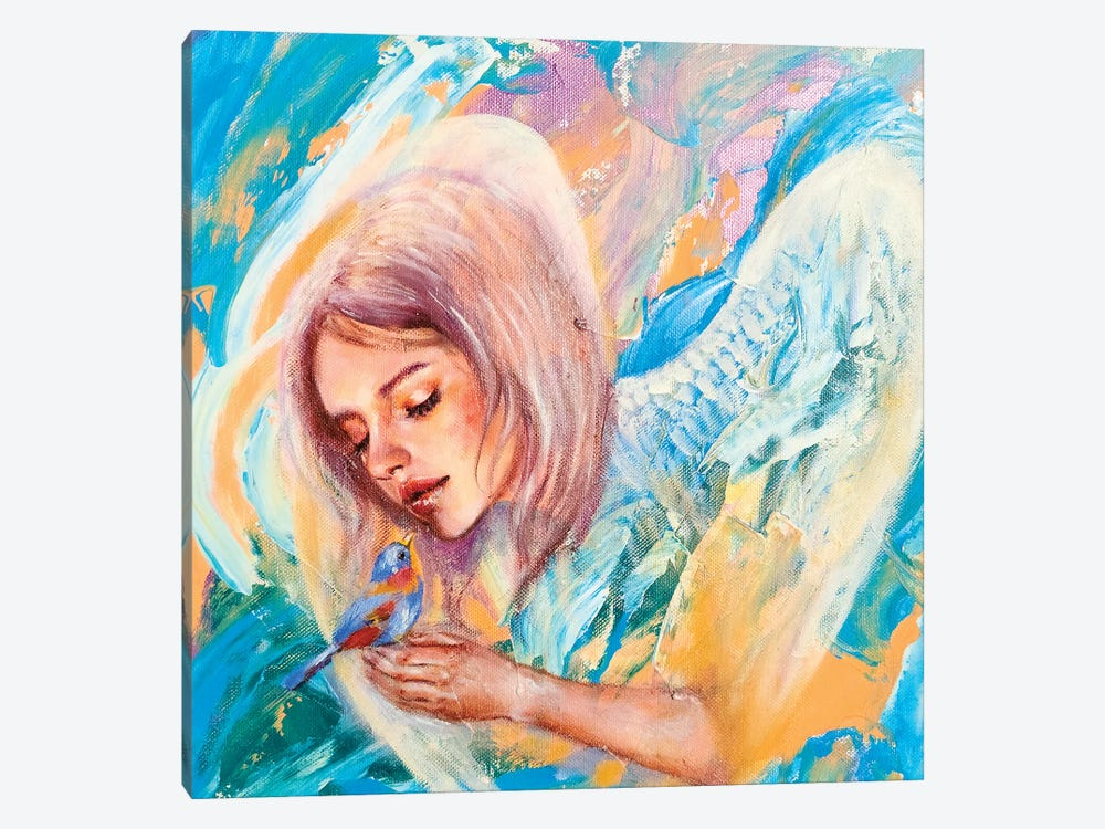 The Blue Bird by Eury Kim 1-piece Canvas Print