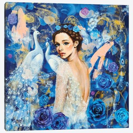 Miracle Blue Canvas Print #EYK17} by Eury Kim Canvas Art Print