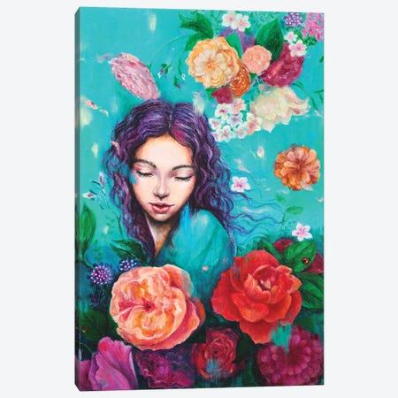Flying petals Canvas Print #EYK19} by Eury Kim Canvas Artwork