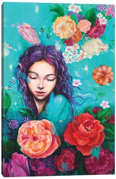 Flying petals Canvas Art Print