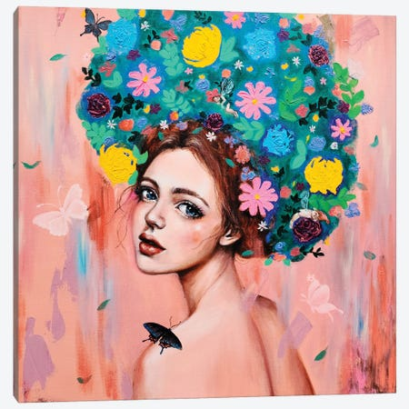 Flower girl: Dreams of you Canvas Print #EYK1} by Eury Kim Art Print