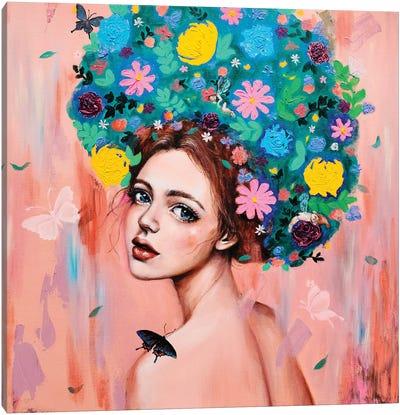 Flower girl: Dreams of you Canvas Art Print