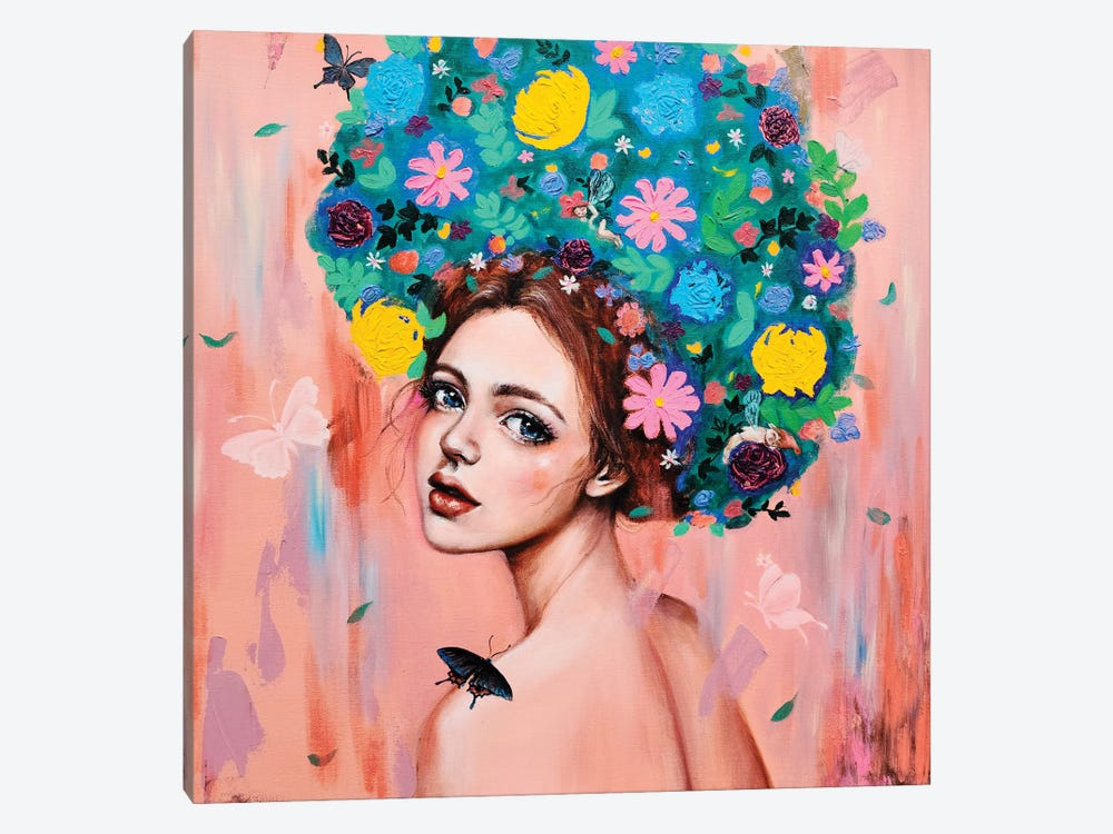 Flower girl: Dreams of you by Eury Kim 1-piece Canvas Artwork
