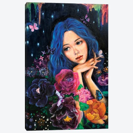 A Starry Night Canvas Print #EYK22} by Eury Kim Canvas Print