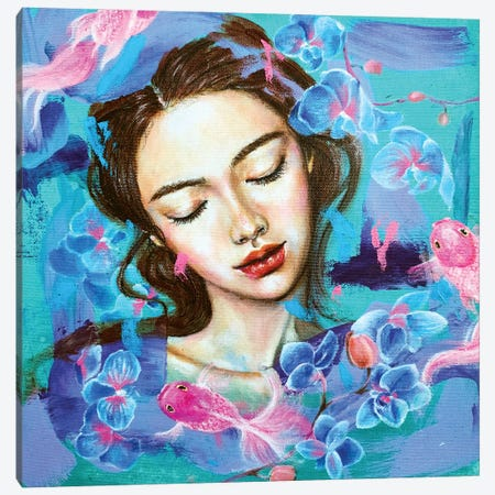 The Dreamer: Orchid Canvas Print #EYK24} by Eury Kim Canvas Artwork