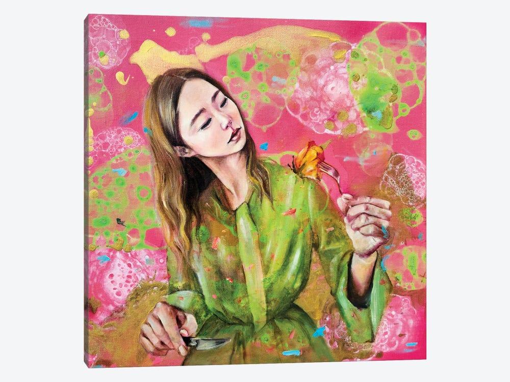 Flowerian II by Eury Kim 1-piece Canvas Wall Art