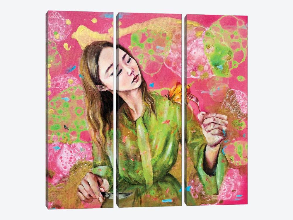 Flowerian II by Eury Kim 3-piece Canvas Artwork