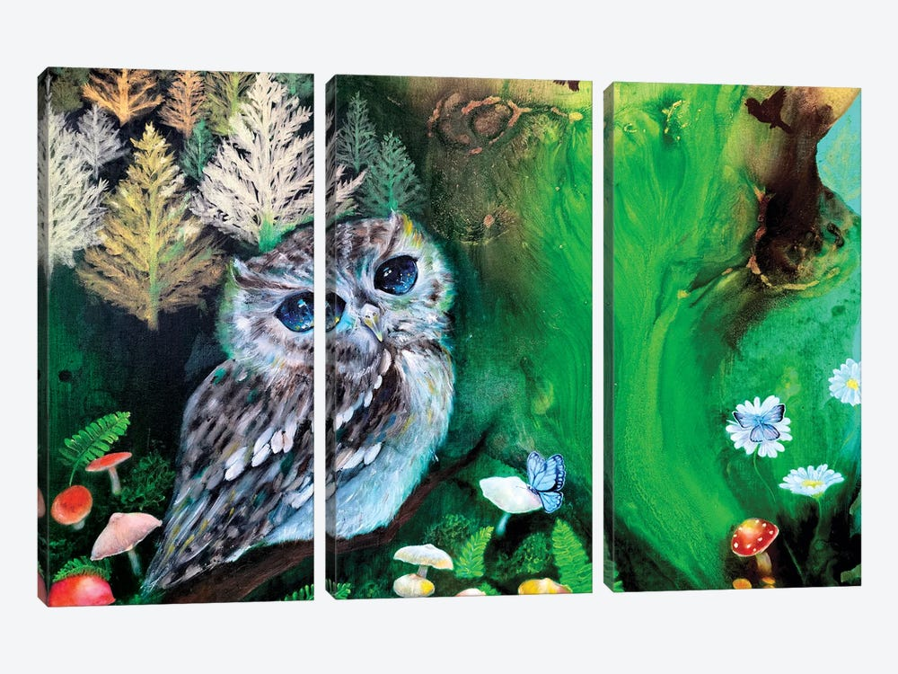 The Forest Of Serenity by Eury Kim 3-piece Canvas Wall Art