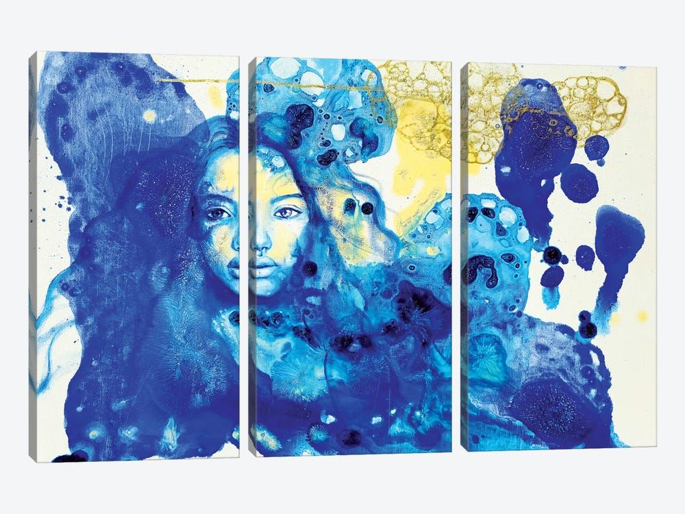 Blue Doors In Tunis by Eury Kim 3-piece Canvas Art