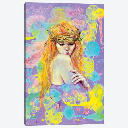 She Belongs To The Forest Canvas Print #EYK38} by Eury Kim Canvas Wall Art
