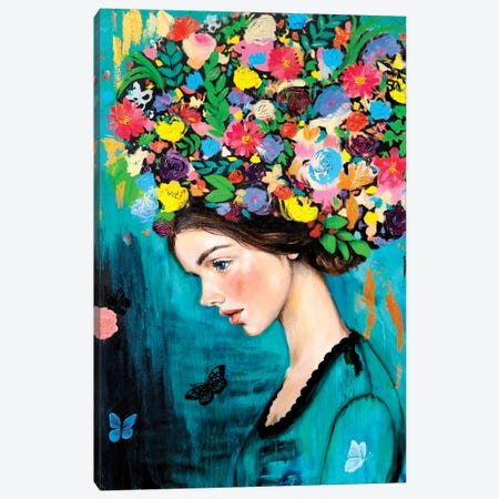 The Weight Of Love Canvas Print #EYK45} by Eury Kim Canvas Wall Art