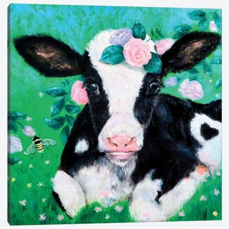 Moo Moo Cow Canvas Print #EYK55} by Eury Kim Canvas Art Print