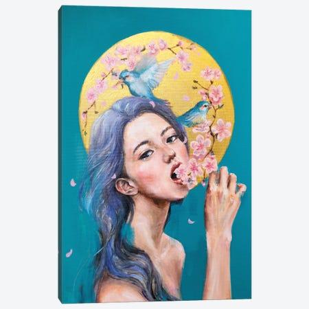 I Eat Flowers Canvas Print #EYK58} by Eury Kim Canvas Art