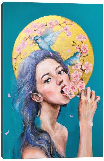 I Eat Flowers Canvas Art Print