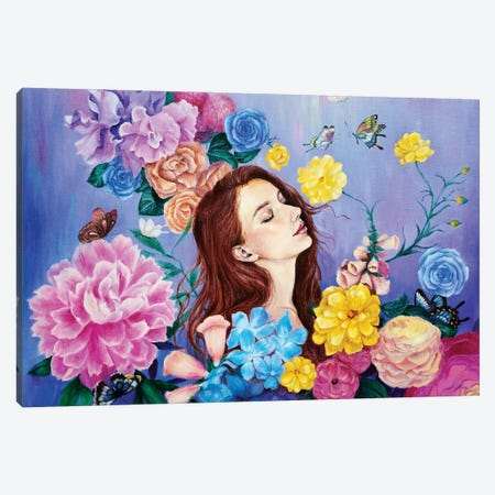 The Mystic Garden Canvas Print #EYK5} by Eury Kim Canvas Wall Art