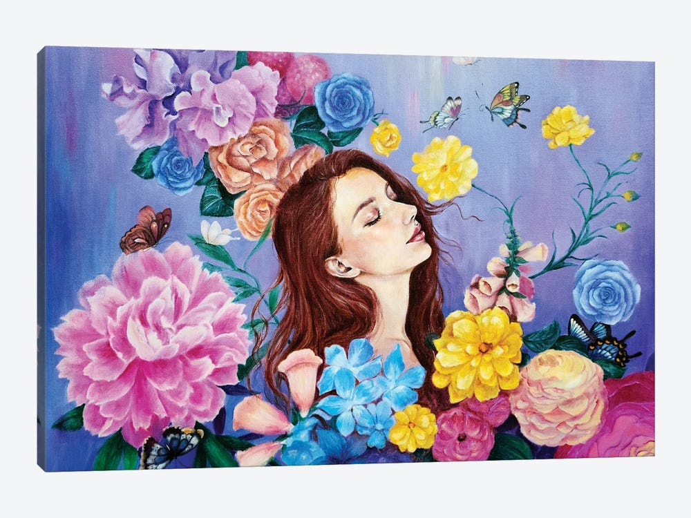 The Mystic Garden by Eury Kim 1-piece Canvas Artwork