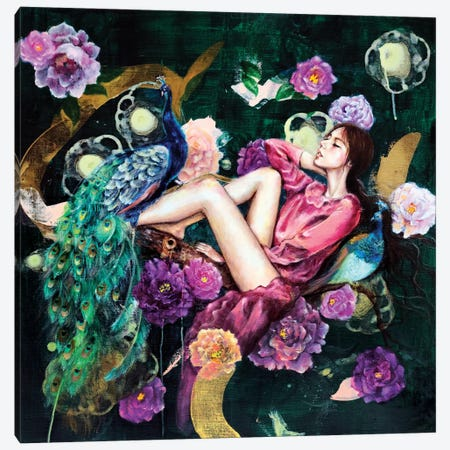 The Dreamer's Night Canvas Print #EYK7} by Eury Kim Canvas Artwork