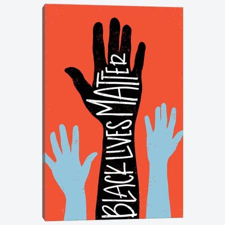 Black Lives Matter - Hands Canvas Print #EYR1} by Emily Rasmussen Canvas Print