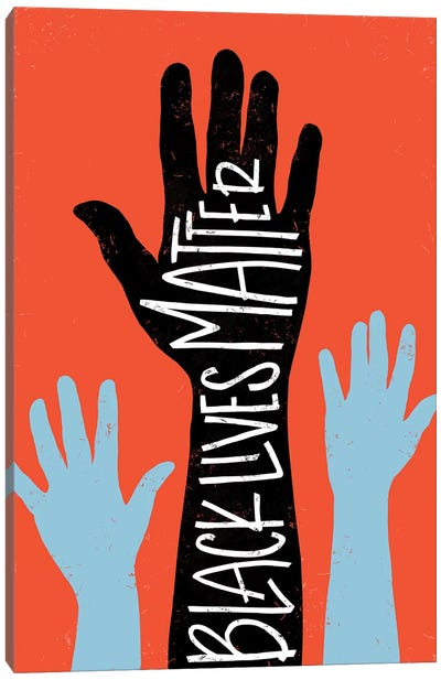 Black Lives Matter - Hands Canvas Art Print