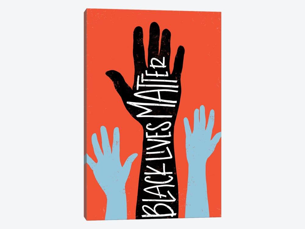 Black Lives Matter - Hands by Emily Rasmussen 1-piece Canvas Print