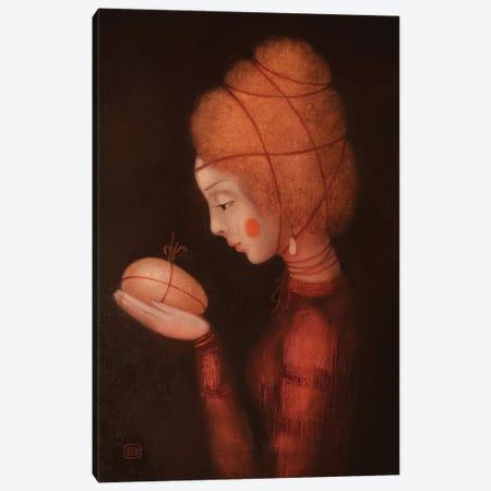 Fire Girl Canvas Print #EZE15} by Eduard Zentsik Canvas Print