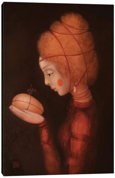 Fire Girl Canvas Art Print