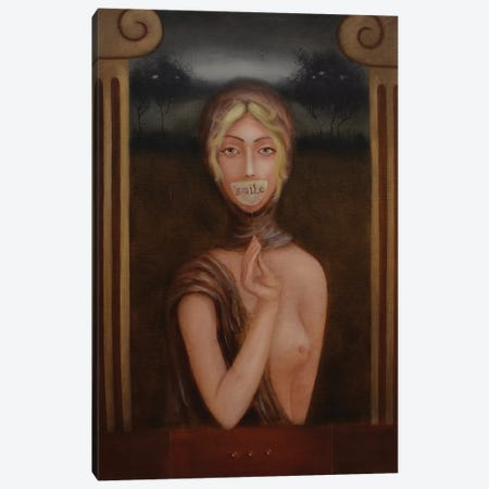 Her Smile Canvas Print #EZE25} by Eduard Zentsik Canvas Artwork