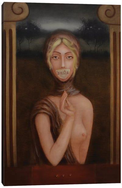 Her Smile Canvas Art Print