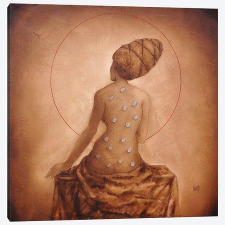 Lady Canvas Print #EZE27} by Eduard Zentsik Canvas Wall Art